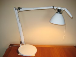 Fortebraccio arbejdslampe, hvid